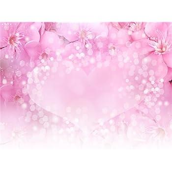 Amazon Com Aofoto 5x4ft Sweet Pink Flowers Photography Background Bokeh Love Heart Backdrop Baby Shower Banner Kid Newborn Infant Girl Portrait Valentine S Day Photoshoot Studio Props Video Drape Wallpaper Camera