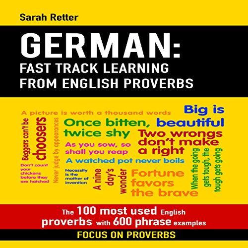 German: Fast Track Learning from English Proverbs audiobook cover art