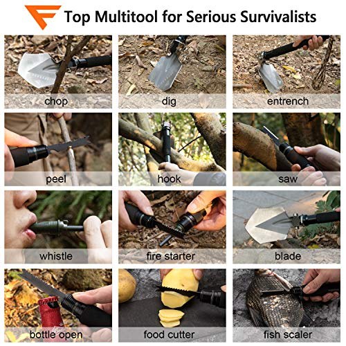 FiveJoy Folding Shovel Multitool (C1)