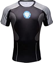 CoolMore Super Hero Compression T Shirts Short Sleeve Tops Tee for Men for Sports Gym Runing Base Layer Wearing