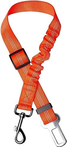 Toozey Perro Cinturón de Seguridad, elástico Ruck dämp Fung y Fuerte mosquetón, Ajustable Perros Correa Alta Segurida...