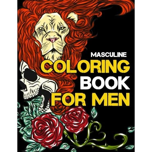 Masculine Coloring Book for Men Adult Activity Coloring