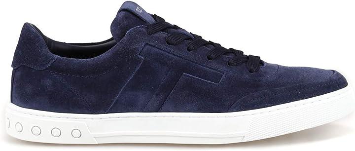 Scarpe tod`s sneaker in camoscio blu con t imbottita xxm0xy0ay40re0u820 blu uomo B084WLXSL8