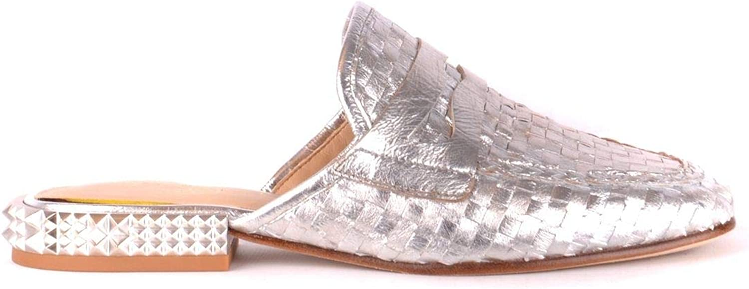 Ash Women's MCBI35310 Silver Leather Loafers