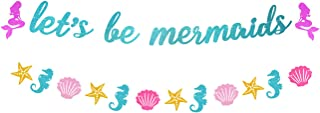 Yaaaaasss! Let's Be Mermaid Garland Under The Sea Themed Party Banner Decor Supplies