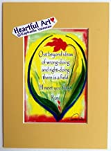 Out beyond ideas 5x7 Rumi print - Heartful Art by Raphaella Vaisseau