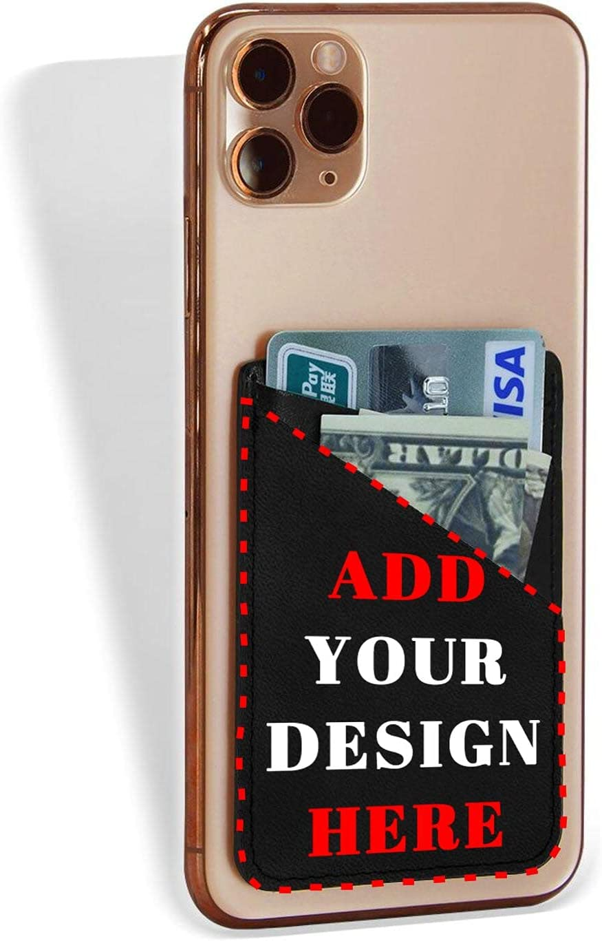 Custom Phone Card Holder,Personalized Credit Phone Wallet,Add Your Own Image Card Package Sticker for Cell Phone Case
