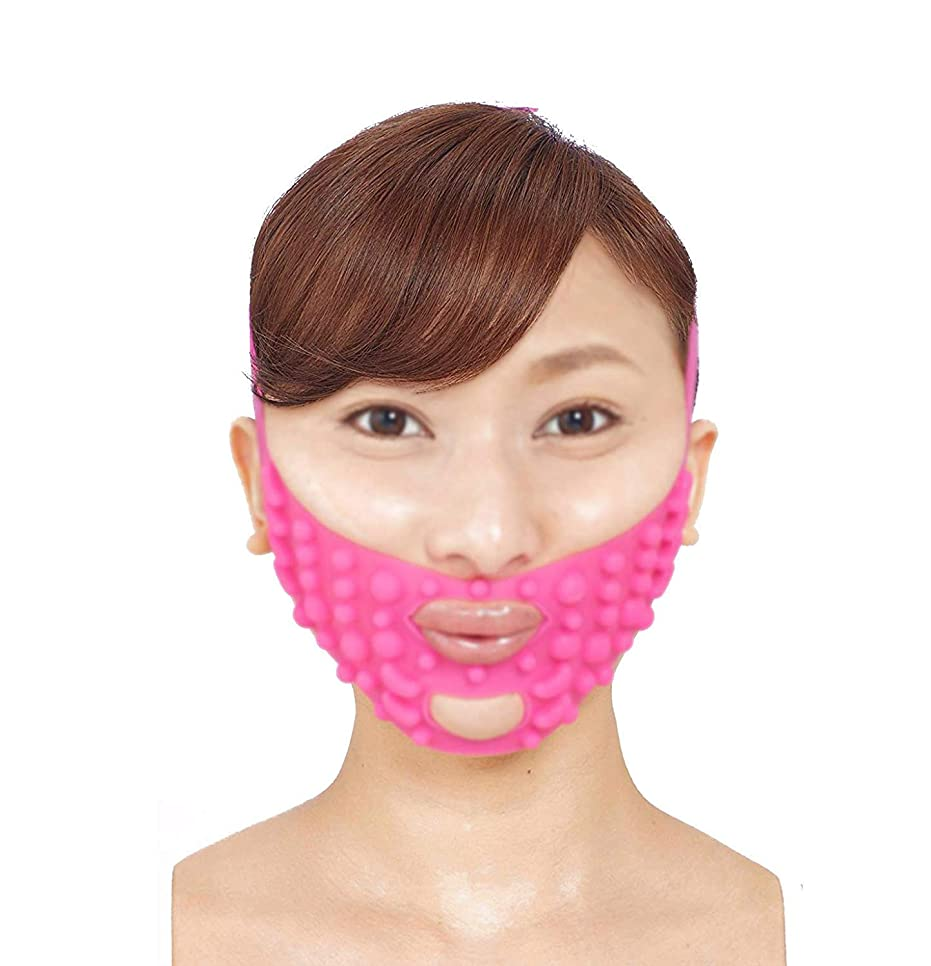 傷つきやすい調査抗生物質フェイシャルマスク、フェイスリフティングアーティファクトフェイスマスク垂れ顔SサイズVフェイス包帯通気性スリーピングフェイスダブルチンチンセットスリープ弾性スリミングベルト