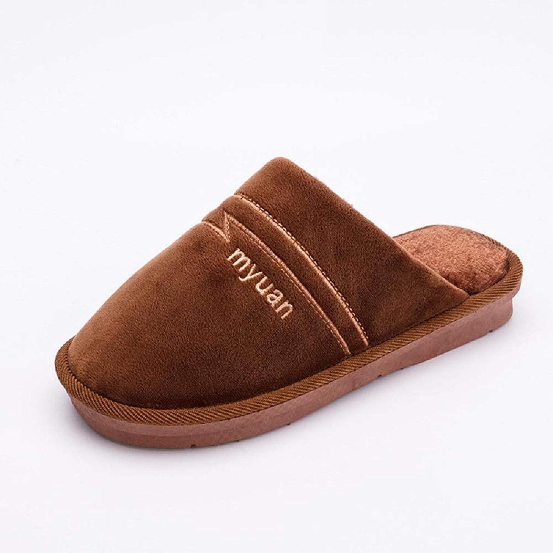 Indoor Floor Flat Slipper Autumn Winter Warm Slippers Women Cotton shoes Soft Sole Home Slipper Man,3,4041