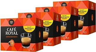 Café Royal Espresso Forte - 64 dosettes Compatibles avec le Système NESCAFE®* Dolce Gusto®* (Lot de 4X16)