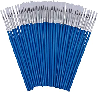 [60 Pack]Pointed Round Painting Brush,Hand Made Thread Drawing Brush,Detail Paint Brush for Acrylic, Oil and Watercolor (M(#00))