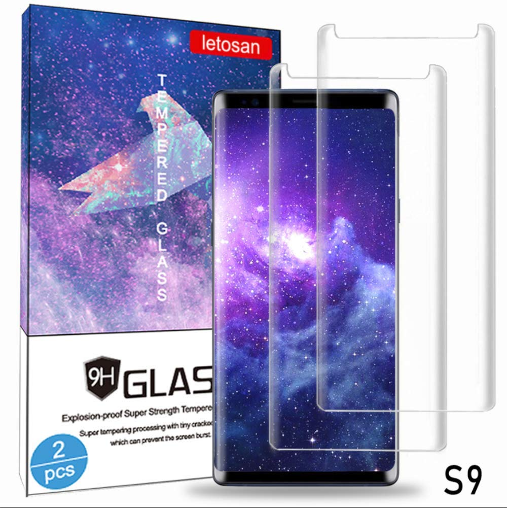 Glass Screen Protector for Samsung Galaxy S9, 3D Curved 9H Hardness Tempered Glass, High Definition, Case Friendly Bubble-Free for Galaxy S9 Glass Screen Protector (Black)