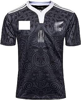 ニュージーランドマオリ100周年記念エディションラグビージャージメンズ半袖ラグビーセット(Tシャツとショーツ)速乾性のあるラグビーのユニフォームMaori