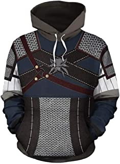 3D Printing The Witcher3 Hoodie Sweatshirt Adult Zipper Jacket Cosplay Costume Unisexw DB004