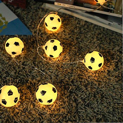 Lichterkette,FeiliandaJJ 1/1.5M 10Led Kreative Fußball Lichter Lichterkette LED Licht Hochzeit Party Weihnachten Halloween Innen/Außen Haus Deko String Lights (Gelb)