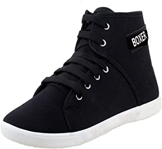 Earton Party Casual Shoes, Outdoor Boots,Best Rates, Canvas Shoes for Women's/Girl's (Black-1207)