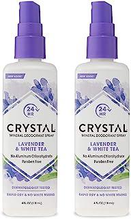 CRYSTAL Mineral Deodorant Spray- Body Deodorant With 24-Hour Odor Protection, Lavender & White Tea Spray, Non-Staining, Al...