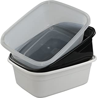 Morcte 10-12 Quart Rectangle Plastic Wash Pan/Dishpan Basin, Set of 3