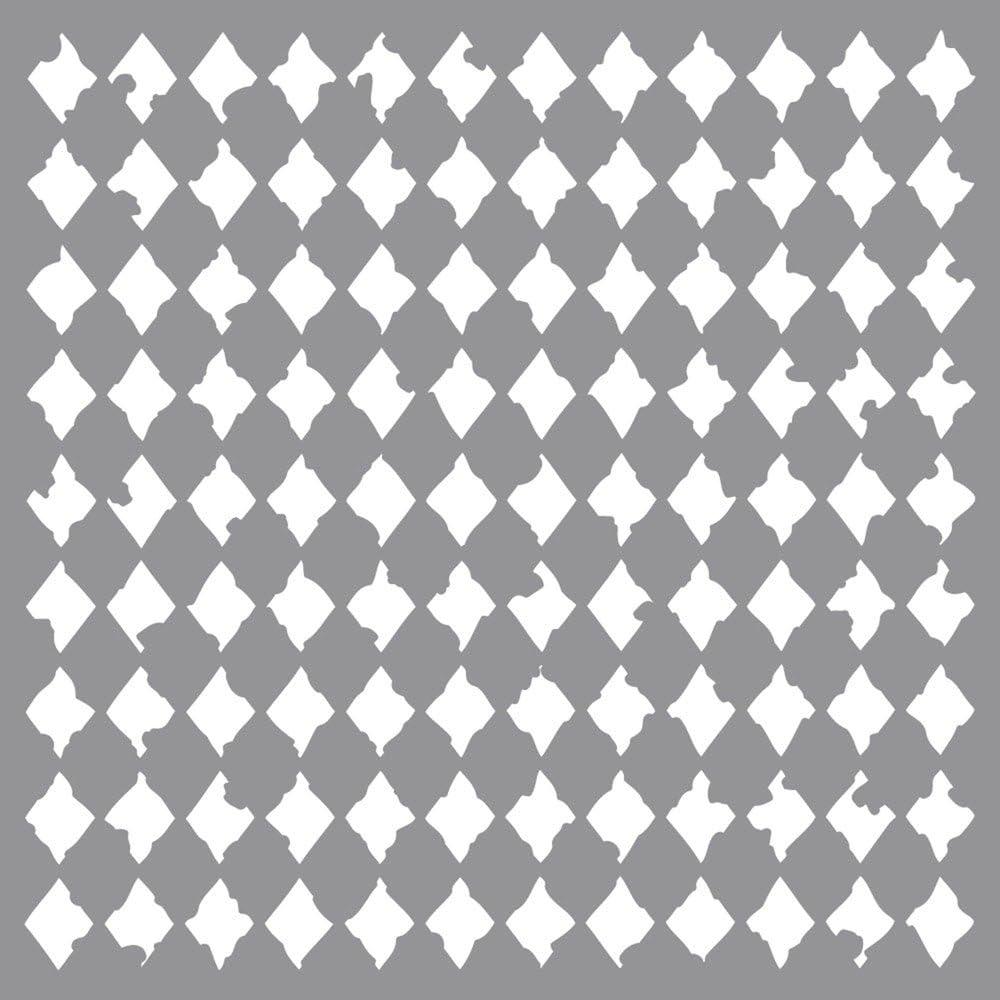 Rayher Stencil Max 44% OFF Harlequin 30.5x30.5cm tab-Bag Mesa Mall 31 x pc 32.5 1