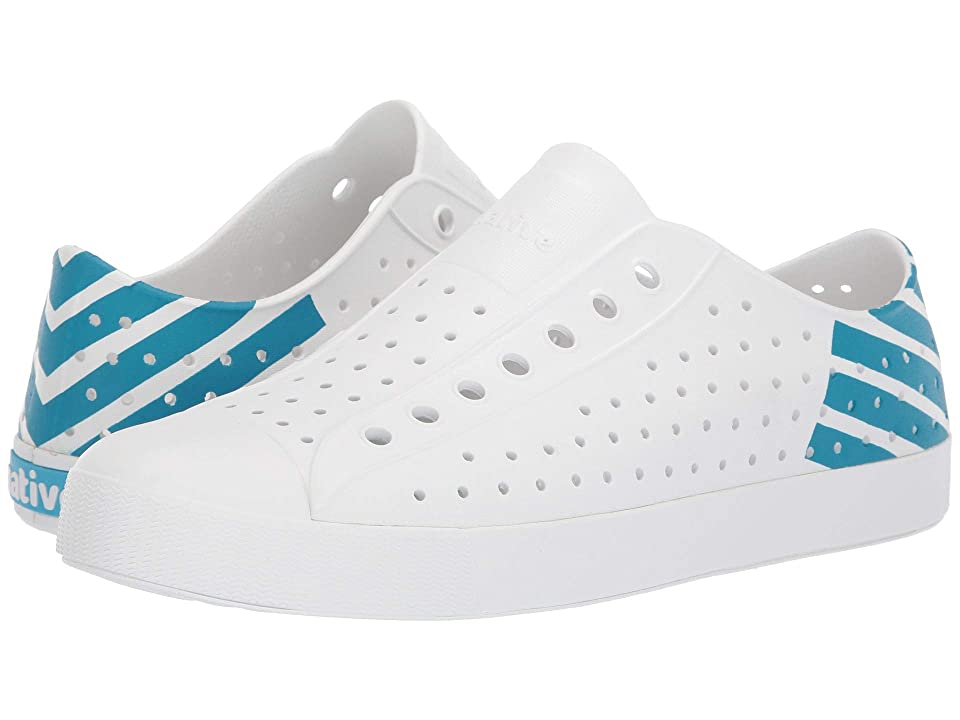 Native Shoes Jefferson (Shell White/Shell White/Ultra Blue Glow Block) Shoes
