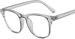 Buhui - Occhiali da vista blu con effetto anti-blu, ultraleggero, riduce la tensione degli occhi ottici, occhiali da vista...