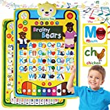Alphabet Learning Toy for Preschool Phonics ABC Letters Game - Double-sided Musical Learn to Read Poster Chart - Teach Letter Sounds Colors Numbers - Educational Toy to Jumpstart your Child's Reading