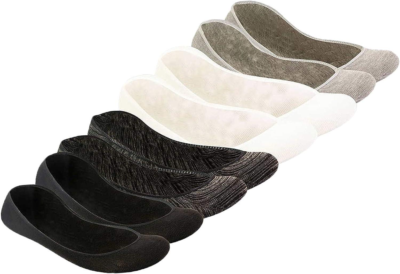 No Show Sock Liner Ladies,Non Slip,Seamless, Fashion, (8 Pairs)