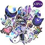 Galaxy Computer Laptop Sticker - Vinyl Waterproof Girl Stickers for Water Bottle Car Skateboard Luggage Guitar Bike Phone Cases Cool Decal 42Pcs Pack