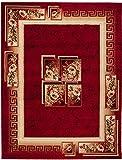 Carpeto Rugs Tapis Salon Rouge 160 x 230 cm Classique Floral/Verona Collection
