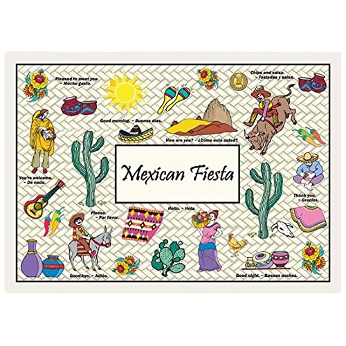 Hoffmaster Mexican Fiesta Paper Placemats 125 Per Pack