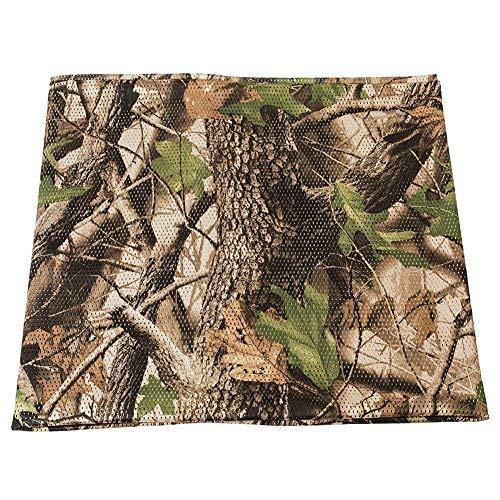 LOOGU Leichtes Stofftuch für Sichtschutz Tarnung Sonnenschutz – Tuch Tarnnetz Abdeckung Burlap für Garten Camping Jagd und vieles mehr – Verschiedene Größen und Designs (1.5m x 6m, Tree Camo)