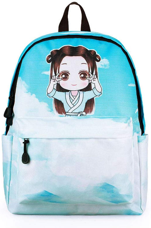 Backpack knapsack Rucksack Infantry Pack Field Pack,New Cartoon Anime Cute Female Large Capacity Backpack