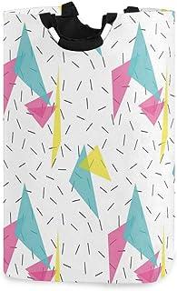 ZOMOY Grand Organiser Paniers pour Vêtements Stockage,Impression de Formes abstraites de Style Memphis,Panier à Linge en T...