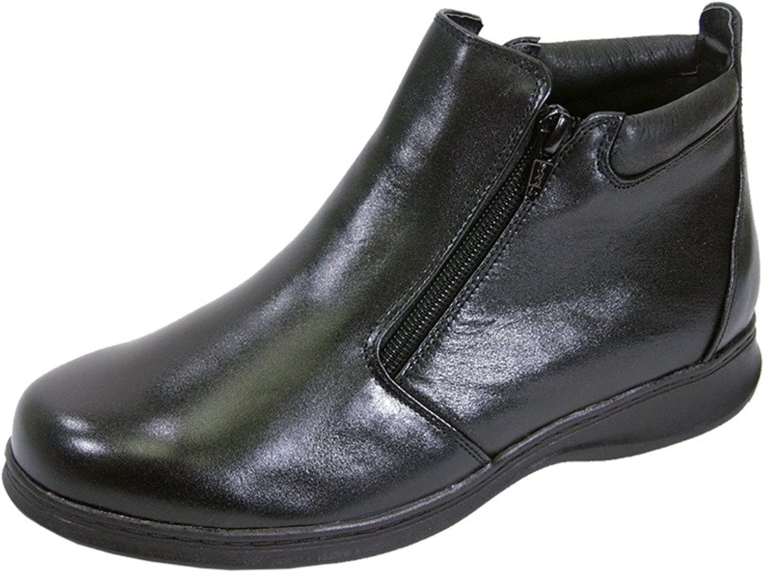 Peerage FIC Juliet Women Wide Width Leather Casual Ankle Boots (Size & Measurement Guides Available)