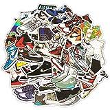 Zapatillas de deporte personalizadas Graffiti impermeable Monopatín viaje maleta teléfono portátil equipaje pegatinas lindo niños niña juguetes 50 piezas