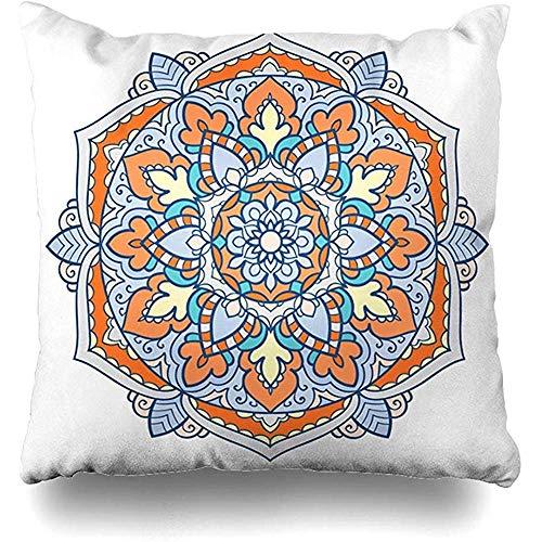 Cojines del sofá para Colorear Arabia étnico árabe Floral Bahrein celebración Funda de Almohada decoración del hogar Funda de cojín 45X45cm diseño Cuadrado Funda de Almohada