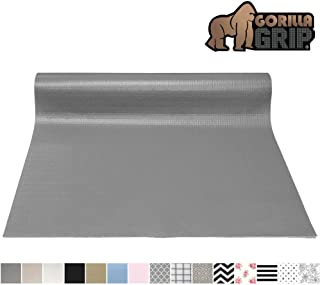 Gorilla Grip Original Smooth Top Slip-Resistant Drawer and Shelf Liner, Non Adhesive Roll, 17.5 Inch x 20 FT, Durable Kitchen Cabinet Shelves Liners for Kitchens Drawers and Desks, Gray