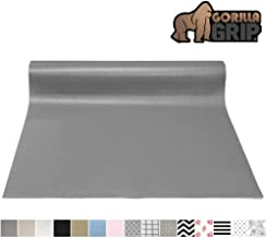 Gorilla Grip Original Smooth Top Slip-Resistant Drawer and Shelf Liner, Non Adhesive Roll, 20 Inch x 20 FT, Durable Kitchen Cabinet Shelves Liners for Kitchens Drawers and Desks, Gray