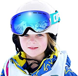 COPOZZ Kids Ski Goggles, G3 Children (Age 2-12) Snow Snowboard Goggles - Helmet Compatible Over Glasses OTG Design Non-Slip Strap UV400 Protection for Children Youth Boys Girls