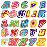 Parches para ropa, diseño de letras del alfabeto, 26...