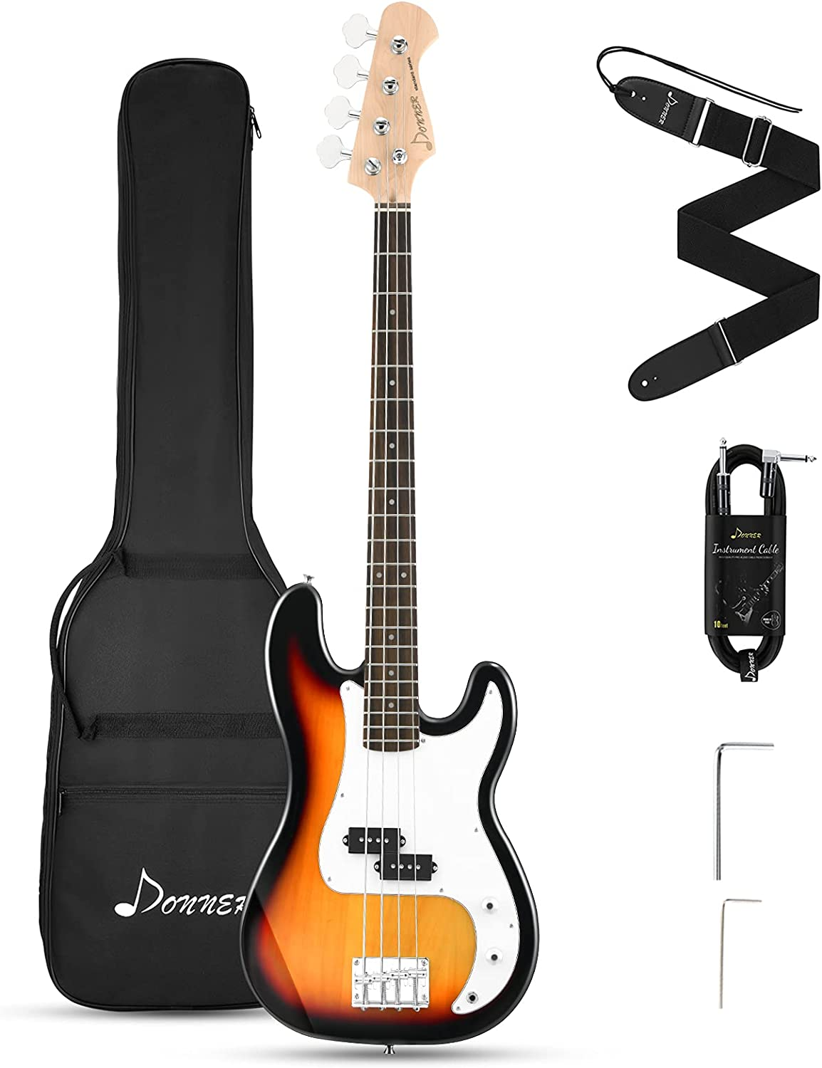 Donner Ranking TOP20 2021 autumn and winter new Electric Bass Guitar 4 Size Beginner P Full Strings