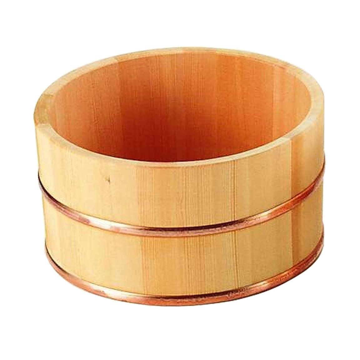 医薬品ために一般ヤマコー サワラ 湯桶(銅タガ)