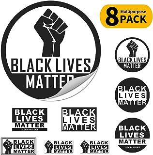 Black Lives Matter fist Logo Bumper Sticker Car Magnet Window Sticker Laptop Decal for Wall Window Car Laptop T-Shirts, 8 Pack, 5.7inch 3.9 inch 2.75inch 2.36inch, Black