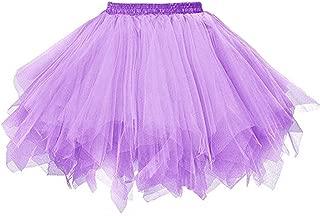 Big Girls Tutu Skirts Layered Tulle Princess Dresses Sparkle Halloween Tutu Deep Purple