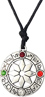 LIKGREAT 8 Pointed Star Octagram Zodiac and Wheel of The Year Symbol Necklace for Girls