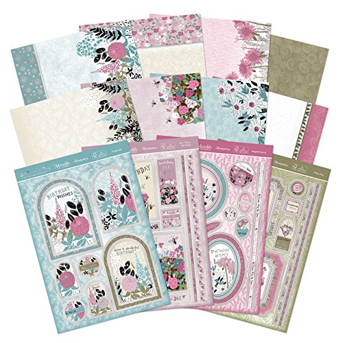 Hunkydory Deluxe Card Kit Botanical Blooms Card Making 12-Sheets