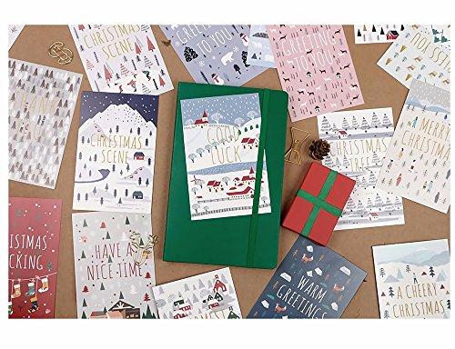 Regali Treat cartoline di Natale 30Pcs, 143mm * 93MM