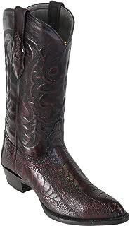 Original Black Cherry Ostrich Leg LeatherJ-Toe Boot