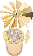 Uonlytech Suporte de Vela Tealight Velas de Natal Natal Spinning Rotary Titular Tealight Velas Da Árvore de Natal Xmas Dec...