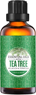 Homasy Tea Tree Essential Oil, 50ml 100% Pure Aromatherapy Essential Oil for Diffuser and Humidifier, Natural Essential Oil Useful for Spa Massage, Hair Care, Relax, Home Cleaning
